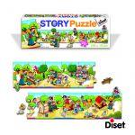 Puzzle Poveste - Sa construim un cotet