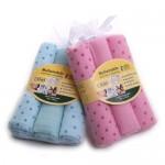 Set 3 servetele bumbac 70 x 70 cm (roz/bleu) - Grun Specht