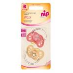 Set 2 suzete Spacy latex, marime 3 (16 - 32 luni) - Nip