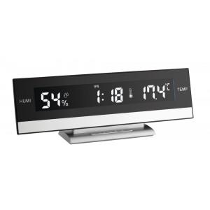 Termo-higrometru iluminat cu ceas si alarma - TFA