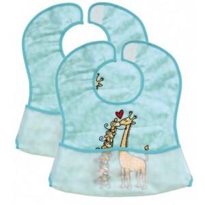 Set 2 bavete din plastic moale, 35 x 32 cm - Fillikid