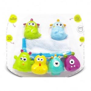 Set saculet cu 4 jucarii de baie (3 modele) - Escabbo