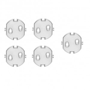 Set 5 protectii transparente pentru prize - Reer