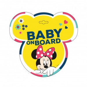 """Sticker """"Bebe la bord"""", model Minnie Mouse - Disney"""