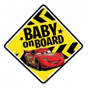 """Sticker cu ventuza """"Bebe la bord"""" Cars - Disney"""