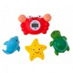 Set termometru baie Crab si 3 jucarii - Rotho