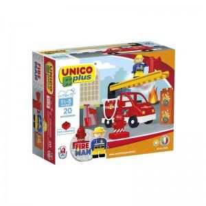 "Joc de constructie Unico ""Pompier"" - Haberkorn"