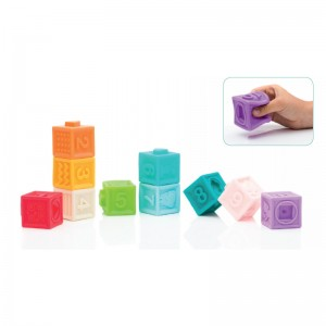Set 10 cuburi din cauciuc moale - Fillikid