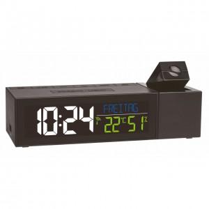 Termometru si higrometru digital cu ecran iluminat si proiectie ceas - TFA