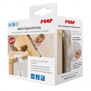 Set fixare anti-inclinare mobilier - Reer