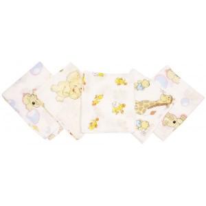 Set 5 scutece imprimate din bumbac - Fillikid